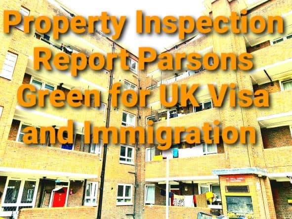 Property Inspection Report Persons Green for Immigration